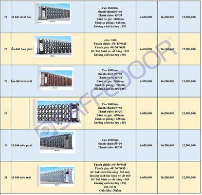 bảng báo giá công xếp hợp kim nhôm